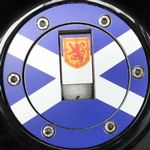 "TRIUMPH Petrol/Gas Cap. Aluminium Tank Decal: ""Scotland the Brave"""